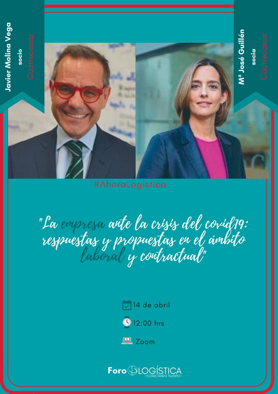 """Webinar: """"La Empresa Logística ante el  Covid 19: ámbito laboral y contractual"""""""